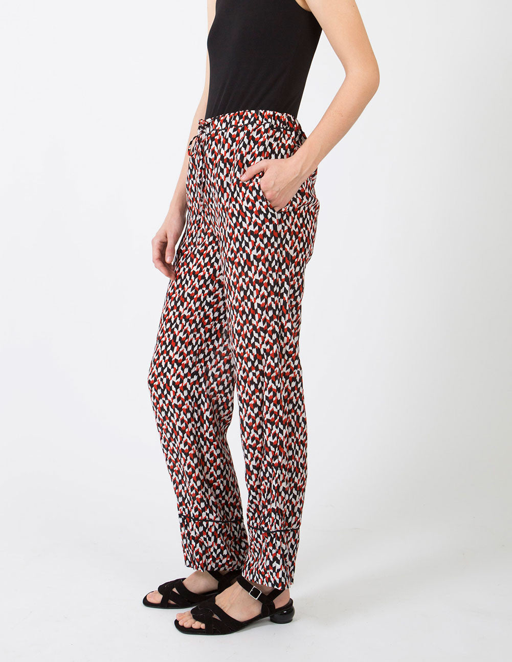 Poppy Red Trouser