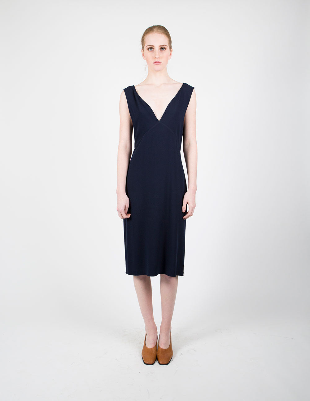 Tie Back V-Neck Dress