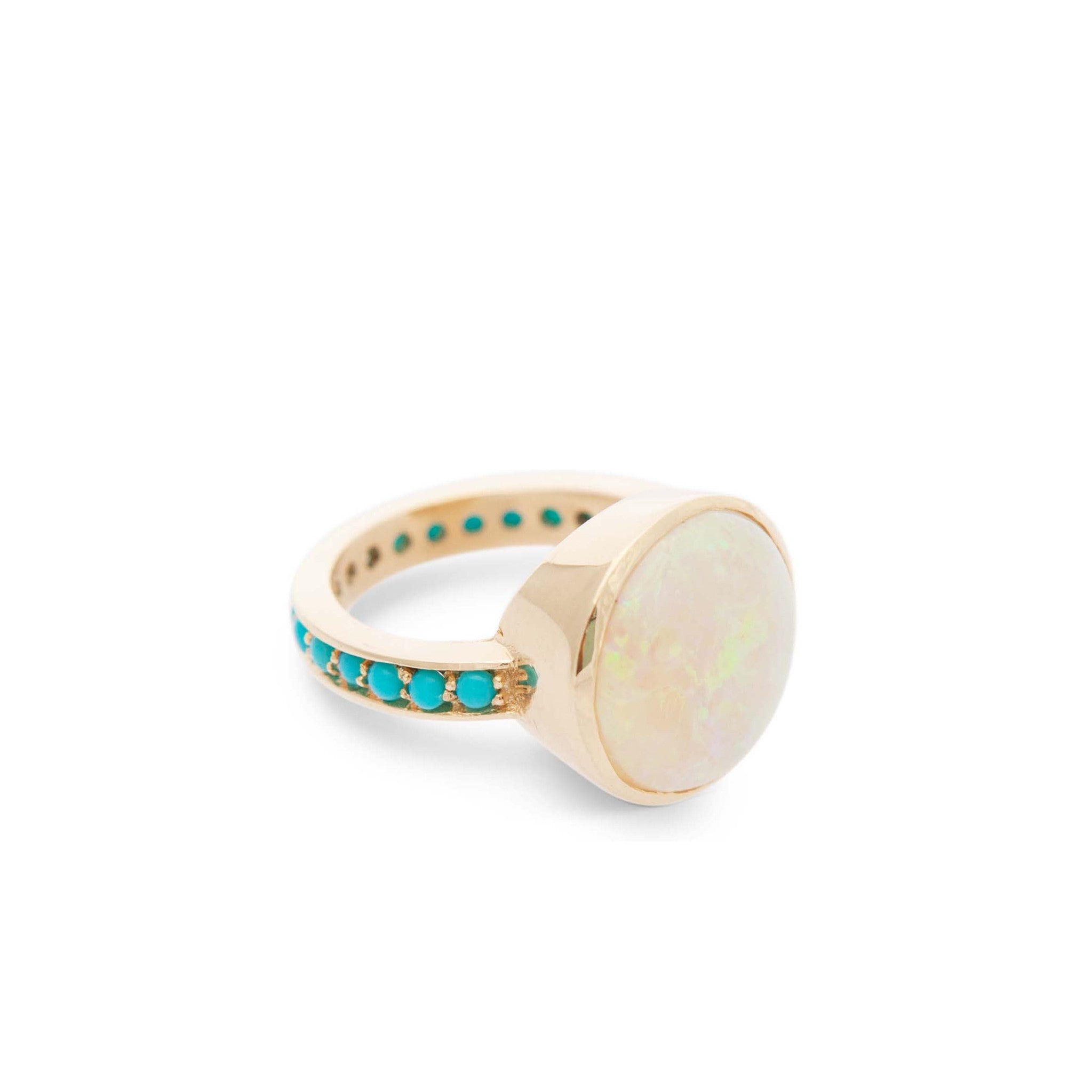 Opal with Turqoise Ring