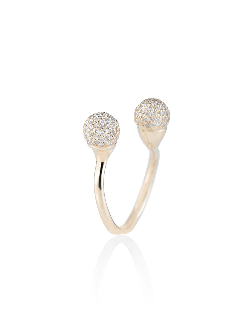 Dual Pave Ball Ring