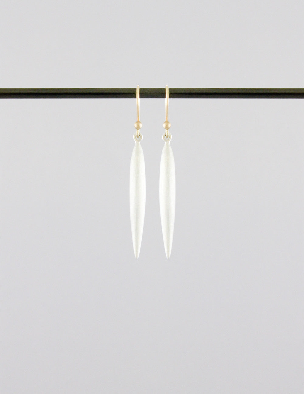 Large Silver Rice Earrings