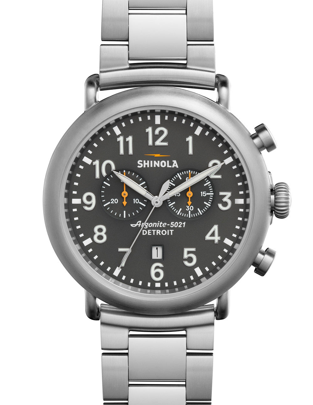Shinola Runwell Chrono 3-Link 47mm