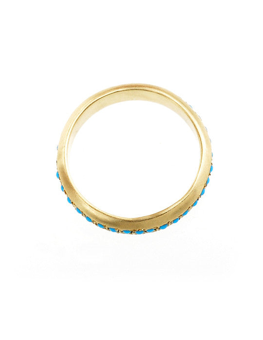 Gold Band with Turquoise