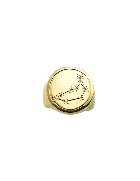 Capricorn Coin Ring