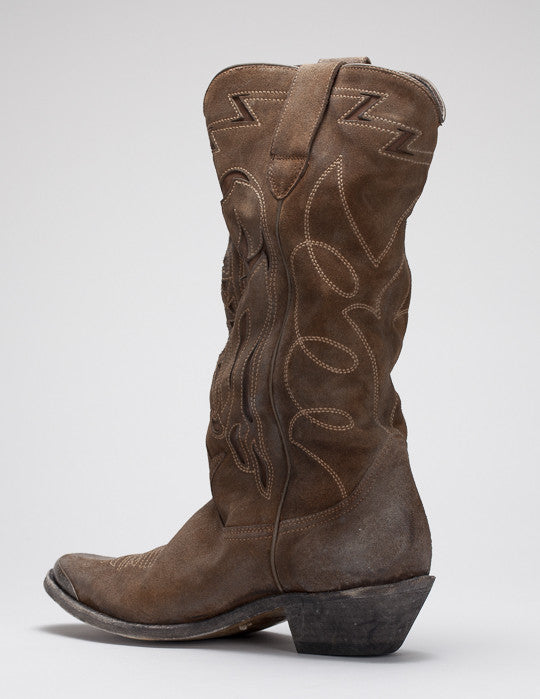 Flying Suede Cowboy Boot