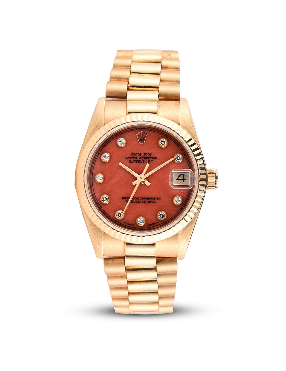 18K Midsize Oyster Perpetual Datejust President Watch