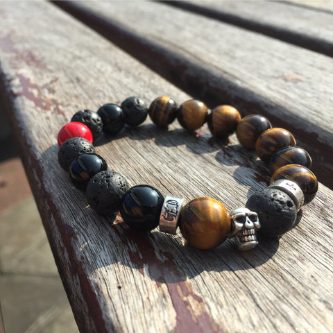 Dark Arts | Tiger Eye, Howlite, Agate, Lava Stone
