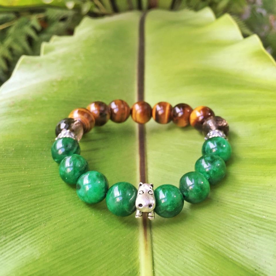 Mother Earth | Jadeite, Tiger's Eye, Smoky Quartz, S925 Hardware