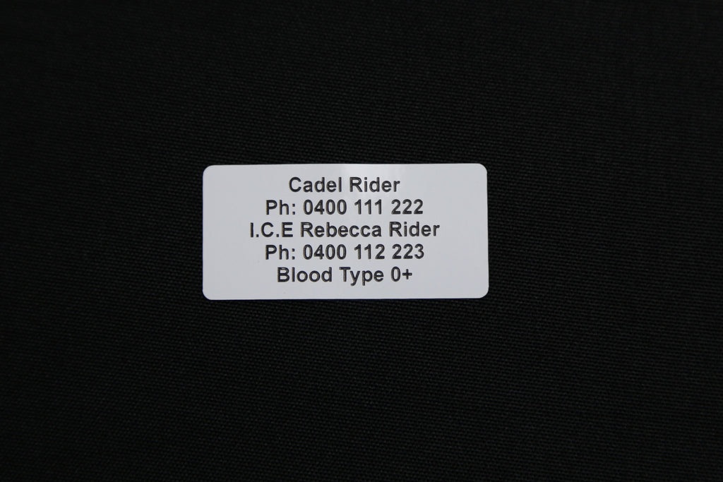 Bike ID sticker.Roccet ID's Bike Helmet ID, Motor Bike Helmet ID, bike identification