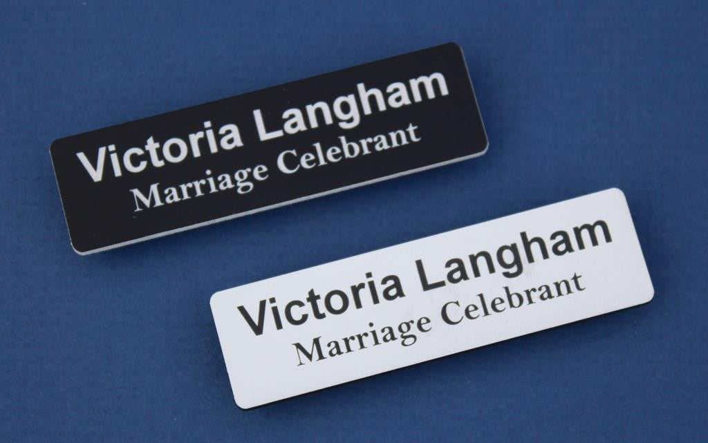 Acrylic name badges.