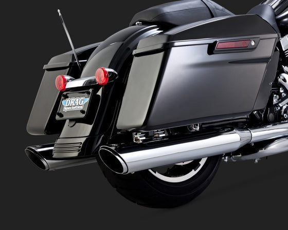Vance & Hines Twin Slash Slip-On's for 14'-16 Harley-Davidson FLH, FLT-Chrome.