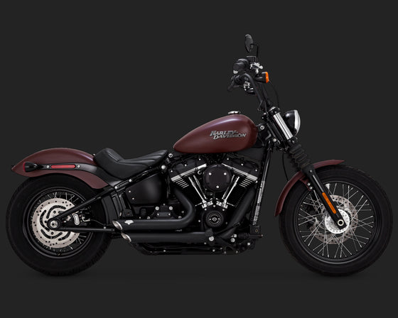 Vance & Hines Shortshots Staggered for 2018 to Current Softail-Black