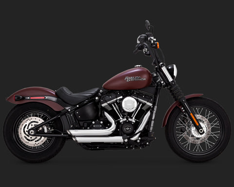 VANCE & HINES SHORTSHOTS STAGGERED CHROME (FITS 2018 SOFTAIL)