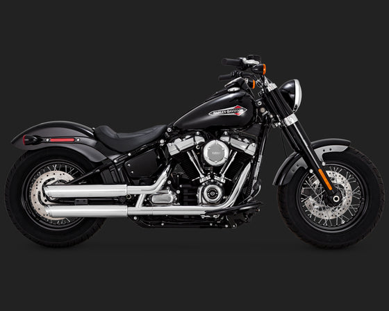 "Vance & Hines Twinslash 3"" Slip-Ons for Softail 2018 to Current-Chrome"