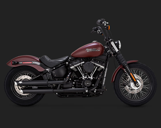 "Vance & Hines Twinslash 3"" Slip-Ons for Softail 2018 to Current-Black"
