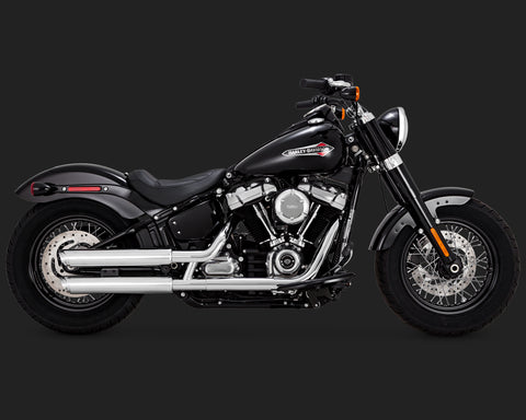 TWIN SLASH 3-INCH SLIP-ONS (FITS 2018 SOFTAIL)