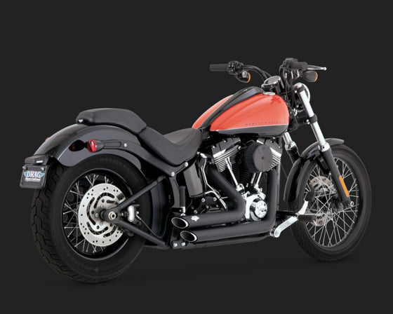 Vance & Hines Shortshots Staggered for FXST, FLST 2012 to 2017-Black