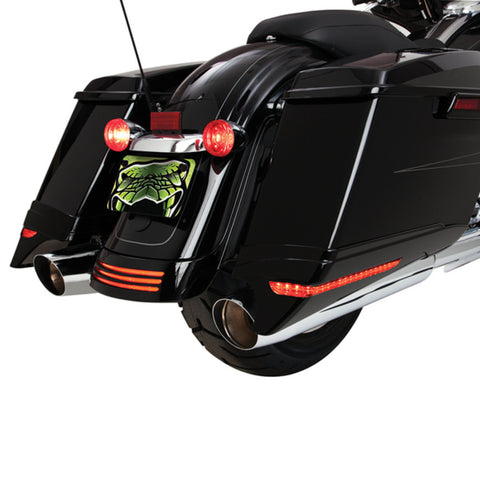 Ciro Saddlebag Extensions With LED Run/Turn/Brake (Various Models)