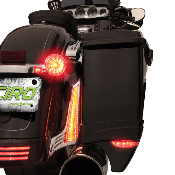 Ciro 3D Filler Panel Lights for 2006 to Present-Various Harley Street & Road Glides & Road King Specials