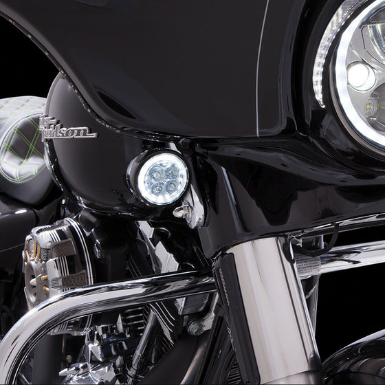 Ciro 3D Fang LED Signal Light Inserts for Harley-Chrome or Black