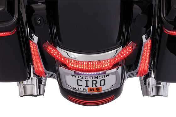 Ciro 3D Latitude Tail Light & License Plate Holder for Harley-2010 & Newer-Street Glide, Road Glide, Road King