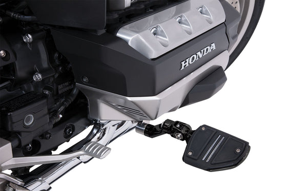 Goldstrike 3-Way Adjustable Highway Peg Mounts With Footrests for Honda Goldwing in Black or Polished Stainless Steel