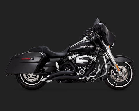 Vance & Hines BIG RADIUS 2-INTO-2 CHROME OR BLACK (2017 & UP TOURING)