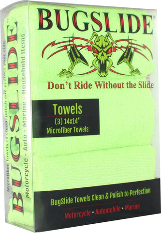 Bugslide 3-Pack of Microfiber Towels