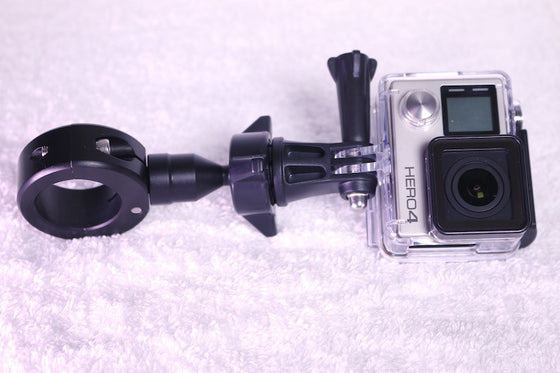 "Biker GoPro Gripper Head Adapter & Handlebar Universal Mount System-Black (Fits Bars 7/8"" to 1 1/4"")-Black-Kit"