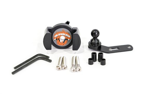 Biker Gripper Cell Phone Control/Perch Mount Kit (Biker Gripper Head & Mount)-Black or Chrome-Harley or Metric