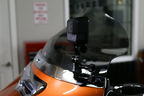 RickRak GoPro & Action Camera Deluxe 360° Faring Mount for Street Glide/Ultra-Batwing Fairing