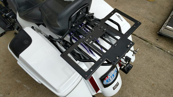 RickRak Detachable Luggage Rack for Harley-Street Glide, Road Glide, Road King Etc-With our Without Bag