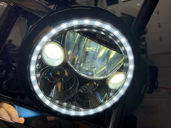 "Ciro 3D XMC LED Headlight From Vision X (7"", 5.75"" & 4.5"" Passing) in Chrome or Black Chrome"
