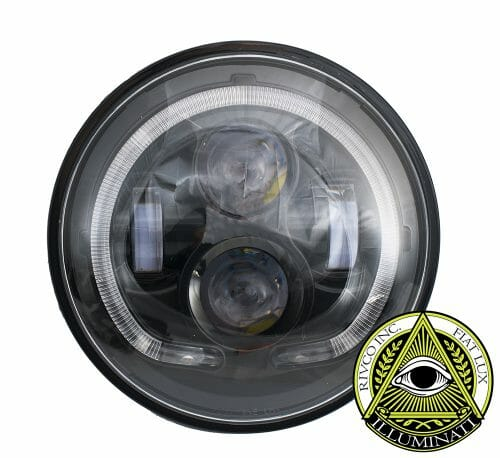"Rivco 7"" Illuminati LED Headlight-Black"