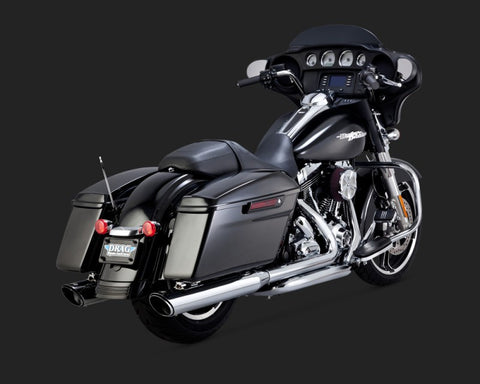 Vance & Hines CTR Twin Slash  Slip-On's for 14-16 Harley-Davidson Touring Models-Chrome.