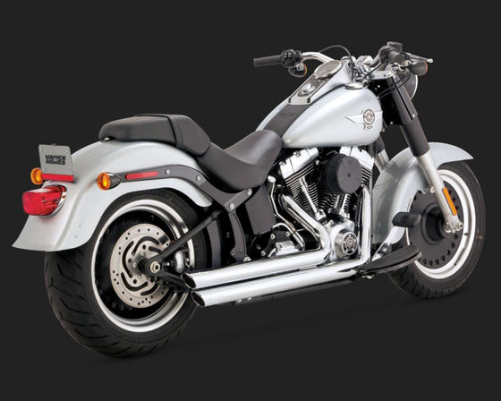 Vance & Hines Big Shots Staggered for Softail 1986 to 2017-Chrome