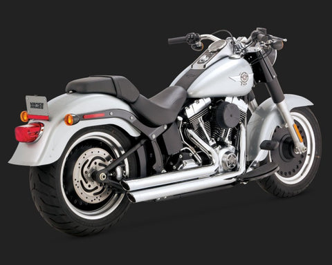 Vance and Hines Big Shots Staggered-Chrome Softail
