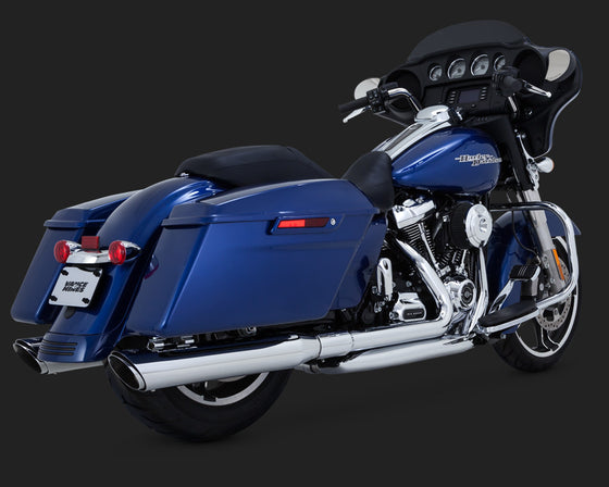 Vance and Hines Dresser Duals-Chrome- for 2017 & up Harley Davidson Touring Models.