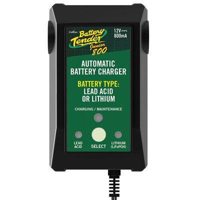 DelTran Battery Tender Jr. Selectable Lead Acid/Lithium Battery Charger