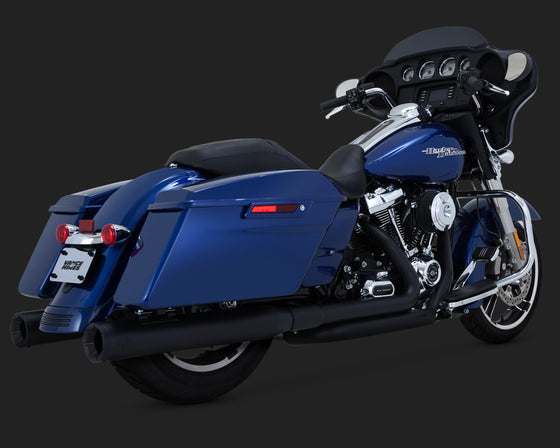 Vance & Hines Dresser Duals for 2017-Current Harley-Davidson FLH, FLT-Black