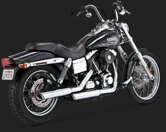 "Vance & Hines Twin Slash 3"" Slip On's for Harley-Davidson Dyna Model-Chrome"