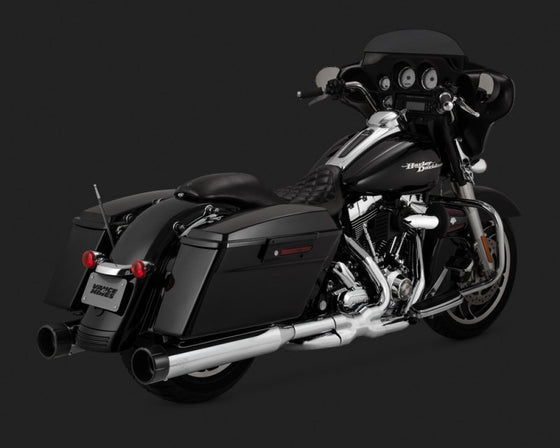 Vance & Hines Power Duals for Harley-Davidson Touring Models. 2009 to 2016-Chrome