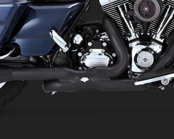 Vance & Hines Power Duals for Harley-Davidson FLH, FLT 2009 to 2016-Black