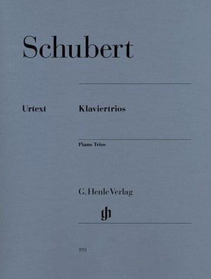 SCHUBERT - PIANO TRIOS OP 99 OP 100 VIOLIN/CELLO/PIANO