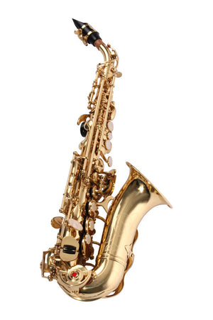 BOND CURVED SOPRANO SAXOPHONE lacquer finish, supplied with curved neck, high and low F# key.
