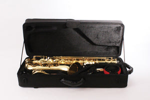 BOND TENOR SAXOPHONE lacquer finish, high F# key, adjustable thumb rest, detachable bell.