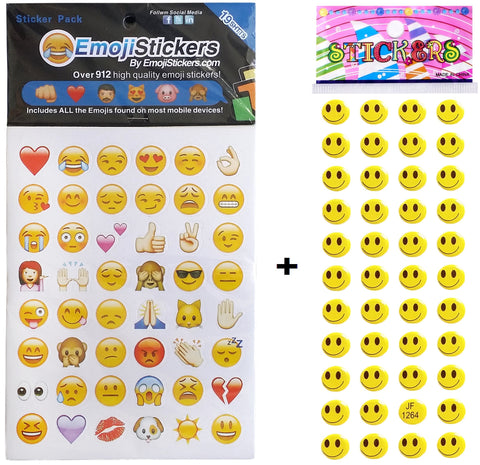 912 Emoji Stickers + 44 FREE Smiley Puffy Stickers - Stickers Forever