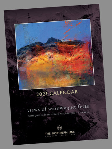 2021 Lake District Calendar - Views of Wainwright Fells Posters The Northern Line
