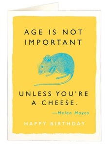 age is not important card