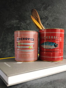 anchovies & mackerel storage tins